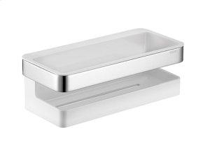 Shower basket - chrome-plated/white Product Image