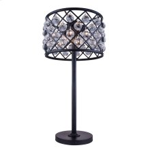 "1204 Madison Collection Table Lamp D:15.5"" H:32"" Lt:3 Mocha Brown Finish (Royal Cut Crystals)"