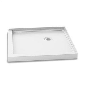 """Square acrylic shower base 36"""" x 36"""" - Corner drain Product Image"""