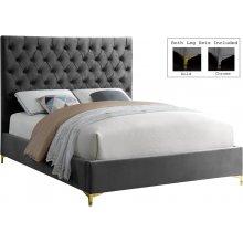 "Cruz Velvet Bed - 81"" W x 86.5"" D x 56"" H"