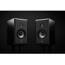 Legend Series Premium Bookshelf Speakers in Black Ash