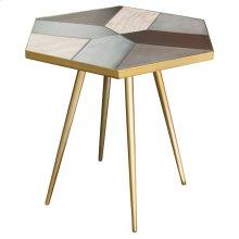Giselle Side Table  Concrete Oak