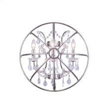 1130 Geneva Collection Wall Lamp Polished Nickel Finish