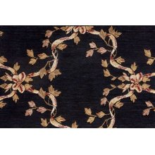 Ashton House Ribbon Trellis A01f Black Broadloom
