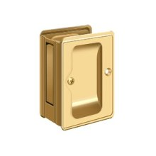 "HD Pocket Lock, Adjustable, 3 1/4""x 2 1/4"" Passage - PVD Polished Brass"