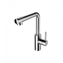 Techno L Spout Pull-out Kitchen Faucet - Polished Chrome
