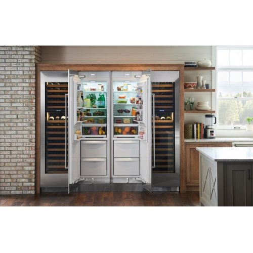 "24"" Designer Column Refrigerator/Freezer with Ice Maker - Panel Ready"