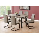 """DINING CHAIR - 2PCS / 39""""H / TAUPE FABRIC / BLACK METAL Product Image"""