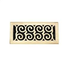 """Norwich Brass Heat Register - 2 1/4"""" x 10"""" (4"""" x 11 1/2"""") / Polished Brass"""