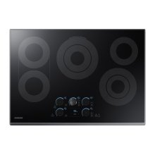 """30"""" Electric Cooktop with Sync Elements in Black Stainless Steel"""