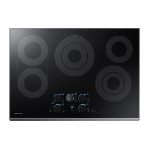 """30"""" Electric Cooktop with Sync Elements in Black Stainless Steel Product Image"""