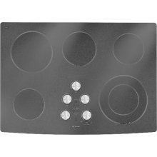 "Electric Radiant Cooktop, 30"", Black"