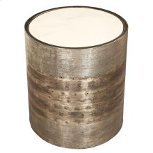 Spot Table - Banded Taupe Finish