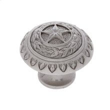 "Satin Nickel 1-3/8"" Texas Star Knob"