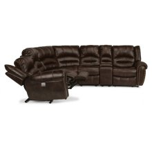 Downtown Fabric Power Reclining Sectional with Power Headrests