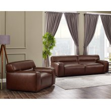 SU-AX6816-SC  Leather 2 Piece Living Room Set  Sofa  Armchair  Brown