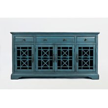 "Craftsman 60"" Media Unit - Antique Blue"