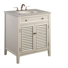 30 in. Single Bathroom Vanity set in White