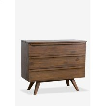 "(LS) Gobin 39"" solid teakwood 3 drawers chest..(39X18X33.5).."