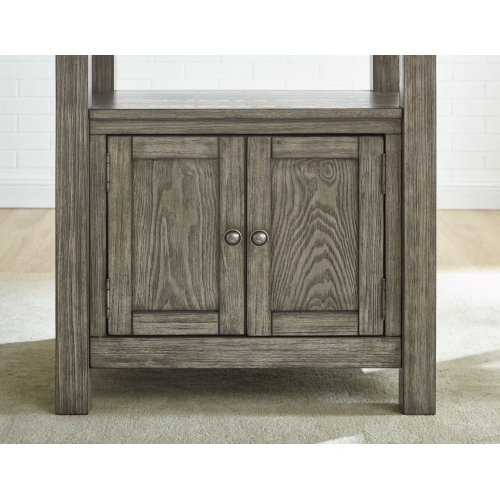 "Grayson Storage Counter Bench Gray 47''x17''x25.5''[1/2""M.F.]"