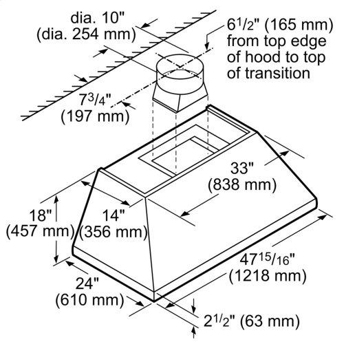 48-Inch Professional Chimney Wall Hood