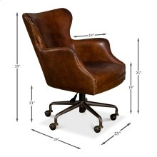 Andrew Jackson Desk Chair, Vintage Cigar