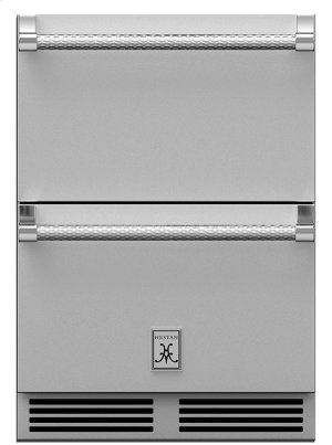 "24"" Hestan Undercounter Refrigerator Drawer and Freezer Drawer - GRF Series Product Image"