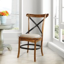 Alesi Dining Chair 2-pack Brown Finish