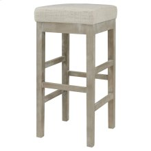 Valencia Backless Bar Stool Mystique Gray Legs, Canvas