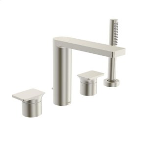 Strata 4-hole roman tub trim kit, brushed nickel Product Image