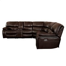 3-Piece Modular Reclining Sectional with Left Console