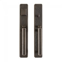 """Hammered Entry Set - 3"""" x 19"""" Silicon Bronze Brushed"""