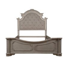 King Size Headboard, Footboard and Side rails, Available in Antique White Finsih Only.