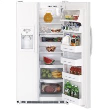 GE® 25.0 Cu. Ft. Capacity Side-By-Side Refrigerator with Dispenser (This is a Stock Photo, actual unit (s) appearance may contain cosmetic blemishes. Please call store if you would like actual pictures). This unit carries our 6 month warranty, MANUFACTURER WARRANTY and REBATE NOT VALID with this item. ISI 33966