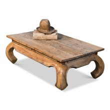 Old Teak Peking Garden Table, Medium