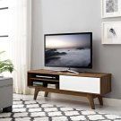 "Envision 48"" TV Stand in Walnut White Product Image"