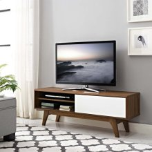 """Envision 48"""" TV Stand in Walnut White"""