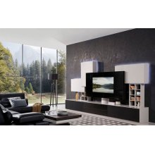 Modrest K539-N Modern Grey Entertainment Center w/ Audio System
