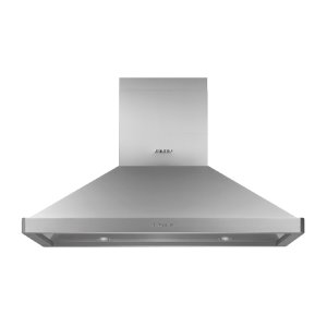 """Heritage 42"""" Chimney Island Hood, Silver Stainless Steel Product Image"""