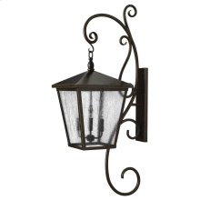 Trellis Extra Large Wall Mount Lantern with Scroll