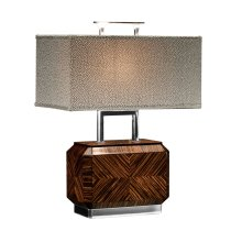 Tea Caddy Faux Macassar Table Lamp