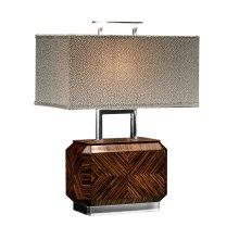 Tea Caddy Faux Macassar Table Lamp