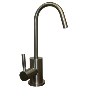 Point of Use instant hot water faucet with a gooseneck spout and a self-closing handle. Product Image