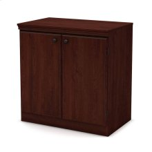 Small 2-Door Storage Cabinet - Royal Cherry