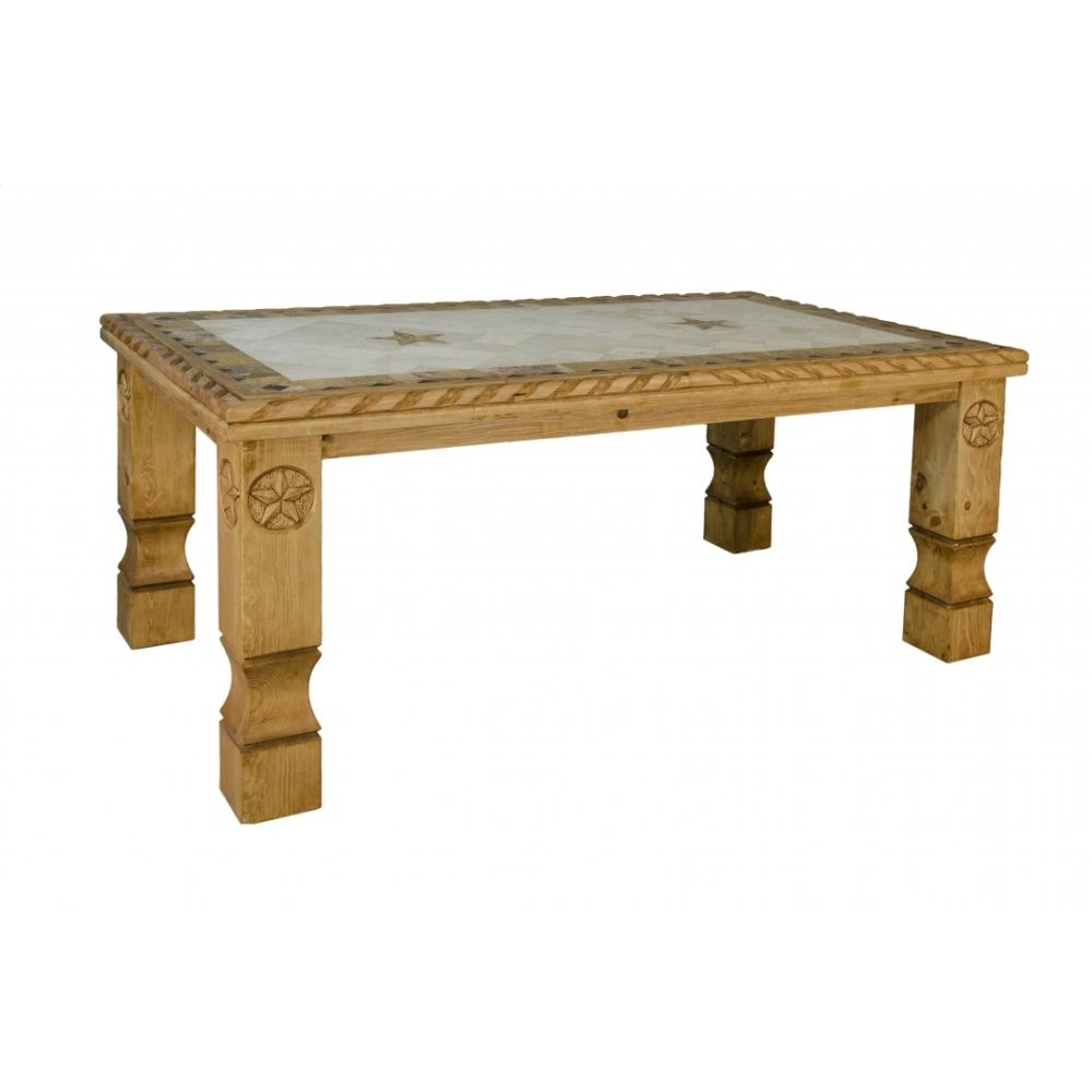 "Cowboy 72"" Table With Marble Top"