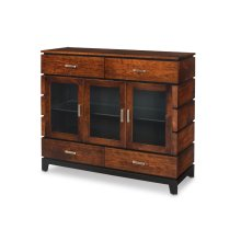 Frisco 3-Door Dining Cabinet with Glass Doors