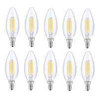 LED E12 CANDELABRA, BLUNT TIP, 3000K, 300, CRI80, ES, UL, 6W, 40W EQUIVALENT, 15000HRS, LM480, DIMMABLE, 2 YEARS WARRANTY, INPUT VOLTAGE 120V