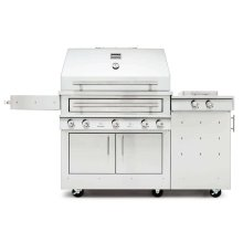 K750HS Hybrid Fire Freestanding Grill with Side Burner
