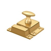 "Cabinet Lock, 1-1/2"" x 1-3/4"" - PVD Polished Brass"