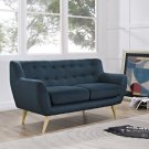 Remark Upholstered Fabric Loveseat in Azure Product Image